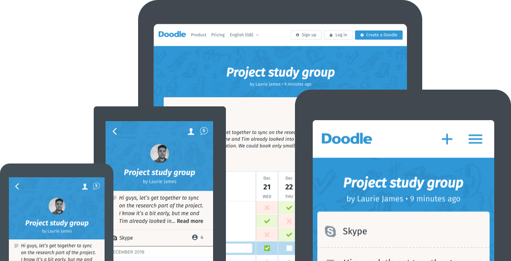 Organize Meetings By Downloading The Doodle App