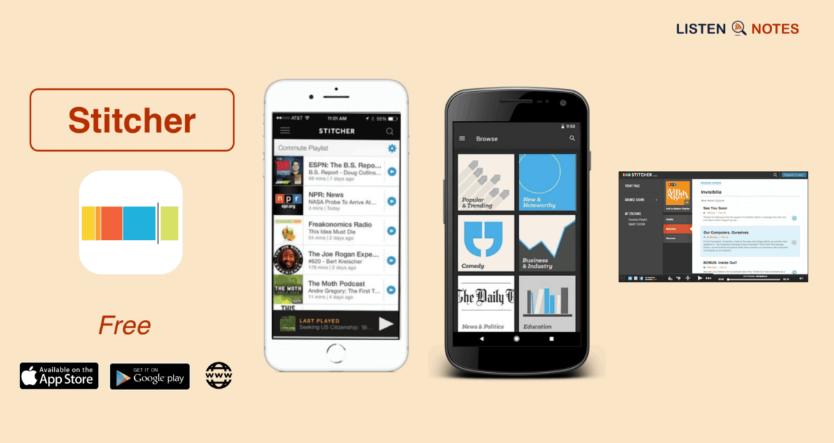 Listen to Podcasts Separated by Subject with the Stitcher App